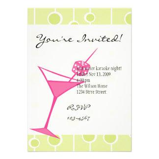 Dice Martini Three Personalized Invitation