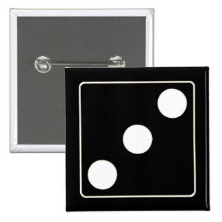 DICE numbers of pips white 3 + your backgr. Pins