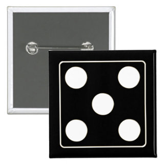 DICE numbers of pips white 5 + your backgr. Pin
