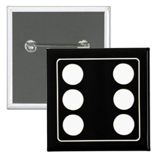 DICE numbers of pips white 6 + your backgr. Pin