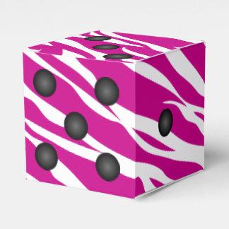 Dice or Die Zebra Animal Print Party Favor Boxes
