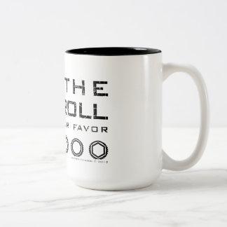 Dice Roll Two Tone Mug - Black Text