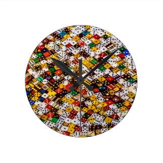 Dice Round Clock