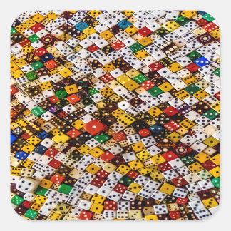 Dice Square Sticker