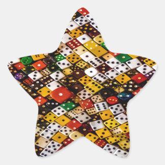 Dice Star Sticker