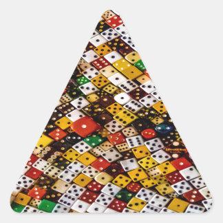 Dice Triangle Sticker