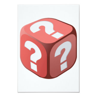 Dice With Question Marks Invitations