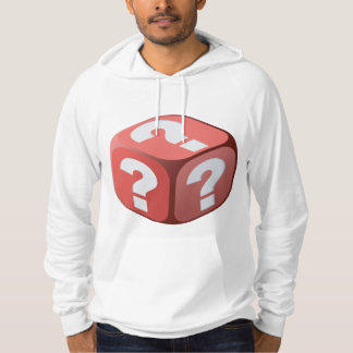 Dice With Question Marks Mens Hoodie