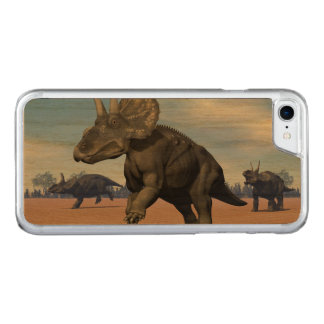 Diceratops/nedoceratops dinosaurs in the desert carved iPhone 8/7 case