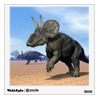 Diceratops/nedoceratops dinosaurs in the desert wall decal