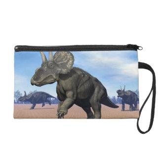 Diceratops/nedoceratops dinosaurs in the desert wristlet