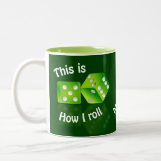 DICES custom name gambler mugs