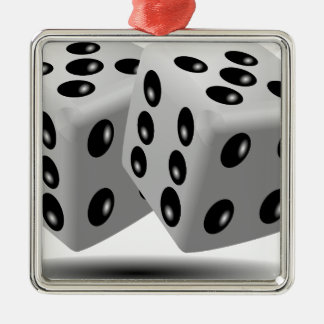 Dices Game Gambling Cubes Numbers Luck Random Metal Ornament