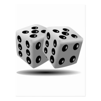 Dices Game Gambling Cubes Numbers Luck Random Postcards