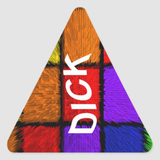 DICK TRIANGLE STICKER
