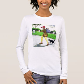 Dick Whittington (1358-1423) and his cat, from 'Pe Long Sleeve T-Shirt