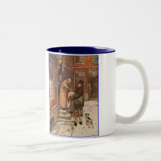 Dickens A Christmas Carol Scrooge's Goose Two-Tone Coffee Mug