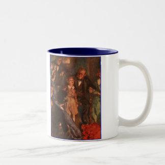 Dickens A Christmas Carol Tiny Tim's Speech Two-Tone Coffee Mug