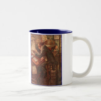 Dickens A Christmas Carol Warming By Candlelight Two-Tone Coffee Mug