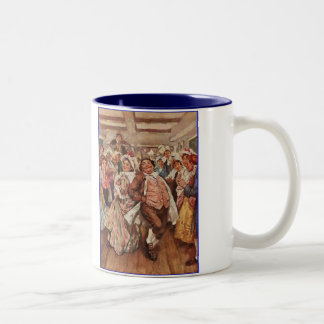 Dickens A Christmas Festive Dancers Two-Tone Coffee Mug