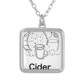 Dickens Cider Silver Plated Necklace
