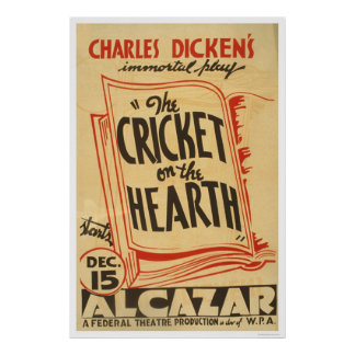 Dickens Cricket On Hearth 1938 WPA Poster