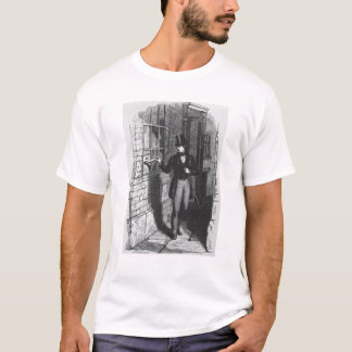 Dickens placing his first literary T-Shirt