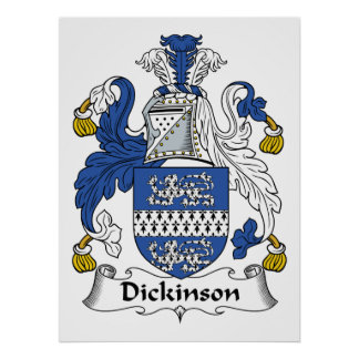 Dickinson Family Crest Poster