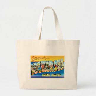 Dickinson North Dakota ND Vintage Travel Souvenir Large Tote Bag