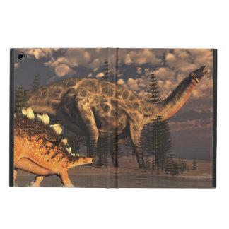 Dicraeosaurus and kentrosaurus dinosaurs - 3D rend iPad Air Cover