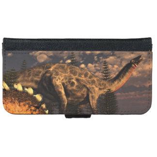 Dicraeosaurus and kentrosaurus dinosaurs - 3D rend iPhone 6 Wallet Case