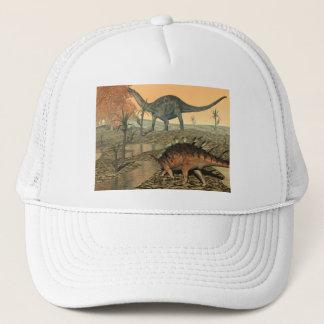 Dicraeosaurus and kentrosaurus dinosaurs trucker hat