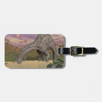 Dicraeosaurus dinosaur drinking - 3D render Bag Tag