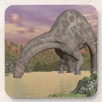 Dicraeosaurus dinosaur drinking - 3D render Coaster