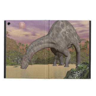 Dicraeosaurus dinosaur drinking - 3D render Cover For iPad Air