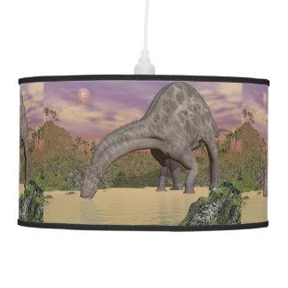 Dicraeosaurus dinosaur drinking - 3D render Pendant Lamp