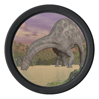 Dicraeosaurus dinosaur drinking - 3D render Poker Chips