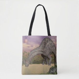 Dicraeosaurus dinosaur drinking - 3D render Tote Bag