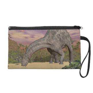 Dicraeosaurus dinosaur drinking - 3D render Wristlet