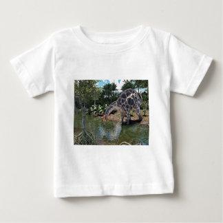 Dicraeosaurus Dinosaur Feeding on a River Baby T-Shirt