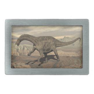 Dicraeosaurus dinosaur walking - 3D render Belt Buckles