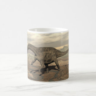 Dicraeosaurus dinosaur walking - 3D render Coffee Mug