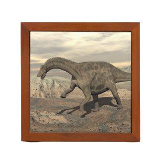Dicraeosaurus dinosaur walking - 3D render Desk Organizer