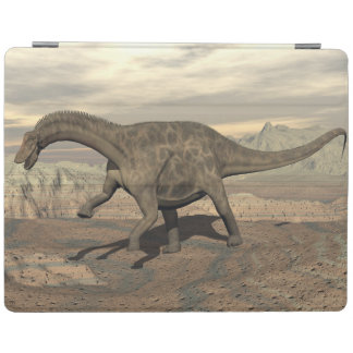 Dicraeosaurus dinosaur walking - 3D render iPad Cover