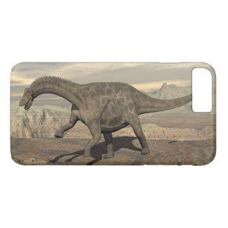 Dicraeosaurus dinosaur walking - 3D render iPhone 8 Plus/7 Plus Case