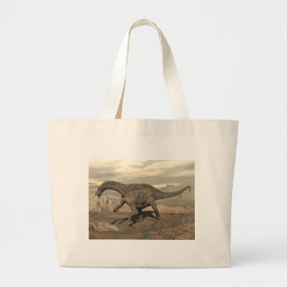 Dicraeosaurus dinosaur walking - 3D render Large Tote Bag