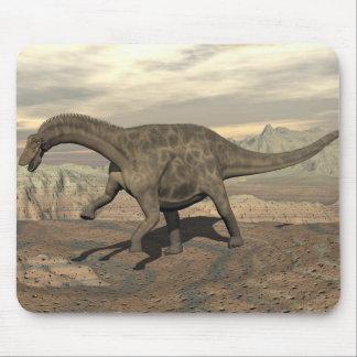 Dicraeosaurus dinosaur walking - 3D render Mouse Pad