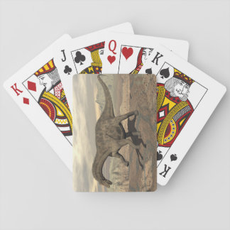 Dicraeosaurus dinosaur walking - 3D render Playing Cards