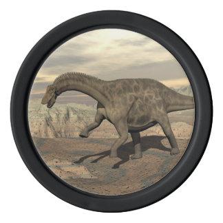 Dicraeosaurus dinosaur walking - 3D render Poker Chips