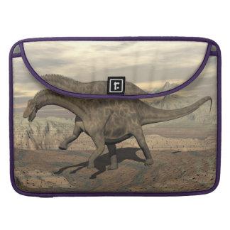 Dicraeosaurus dinosaur walking - 3D render Sleeve For MacBooks